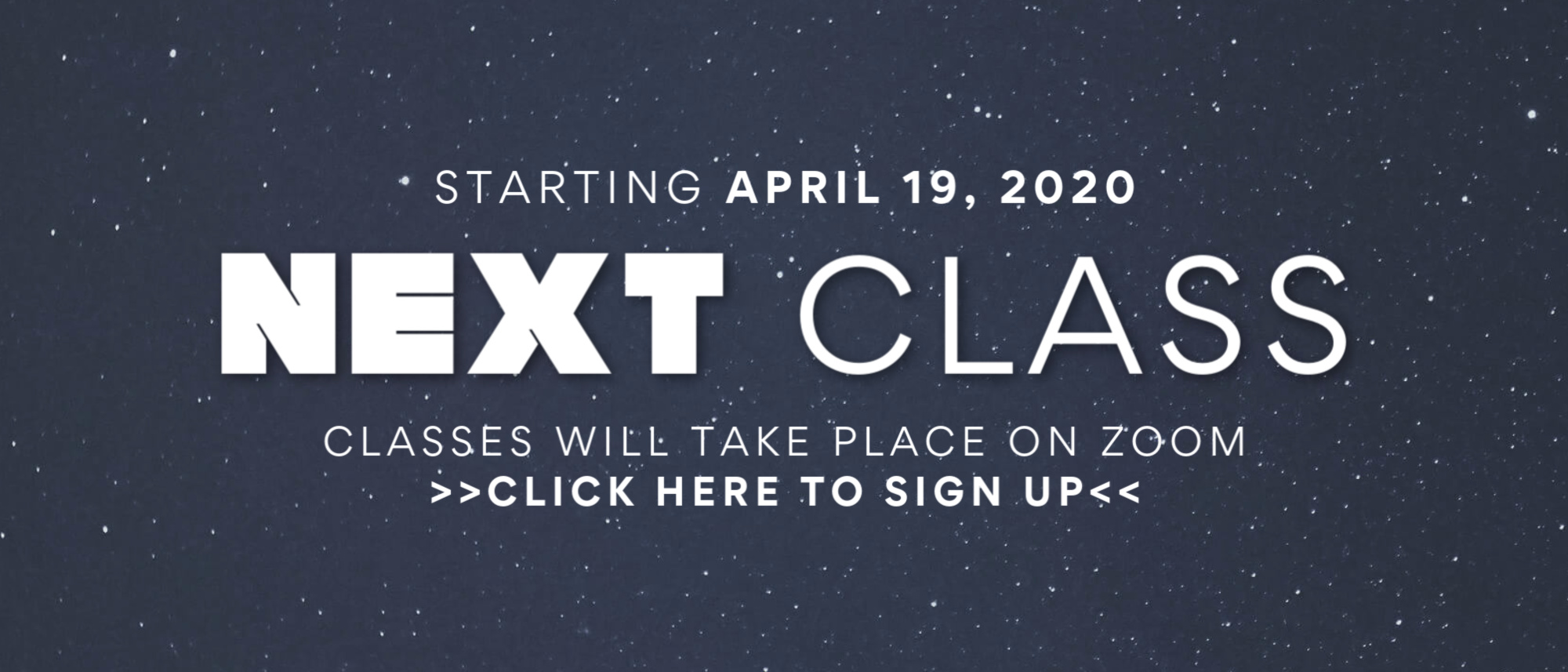 Sign up for Journey Church's online NEXT Class starting on April 19th