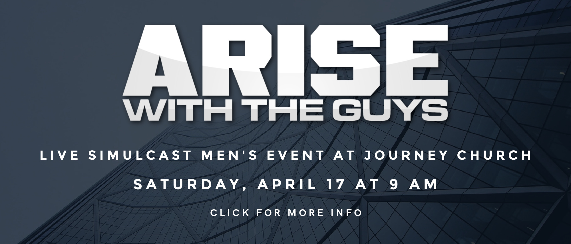 Join us for a live simulcast for men at 9 AM on April 17th!