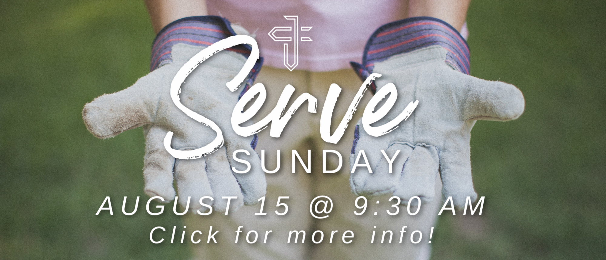 Let's serve our community together on Sunday, August 15th at 9:30 AM!